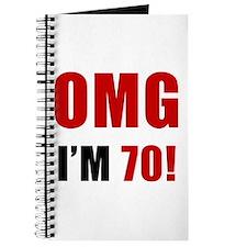 OMG 70th Birthday Journal