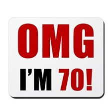 OMG 70th Birthday Mousepad
