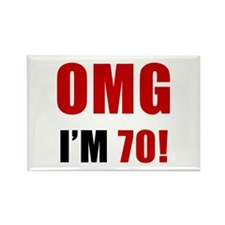 OMG 70th Birthday Rectangle Magnet