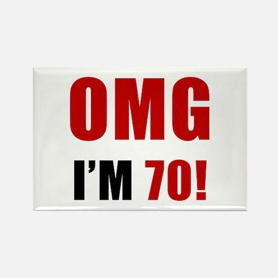 OMG 70th Birthday Rectangle Magnet