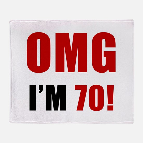 OMG 70th Birthday Throw Blanket