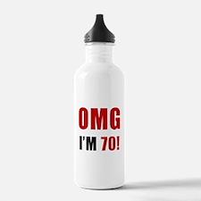 OMG 70th Birthday Water Bottle