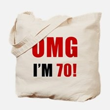 OMG 70th Birthday Tote Bag