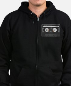 MIX TAPE CASSETTE Zip Hoodie (dark)