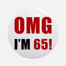 OMG 65th Birthday Ornament (Round)