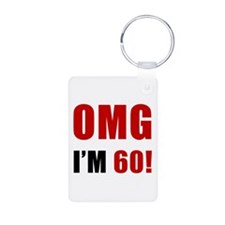 OMG 60th Birthday Keychains