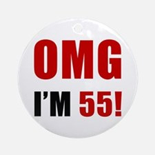 OMG 55th Birthday Ornament (Round)