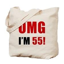 OMG 55th Birthday Tote Bag
