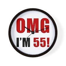 OMG 55th Birthday Wall Clock