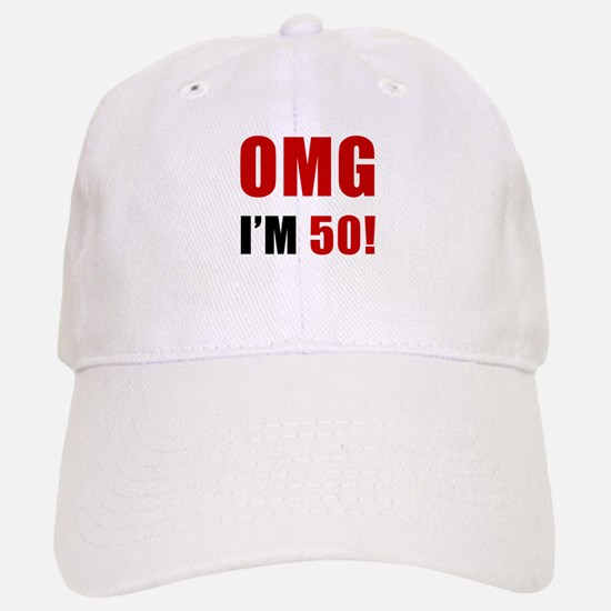 OMG 50th Birthday Baseball Baseball Cap