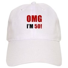 OMG 50th Birthday Baseball Cap