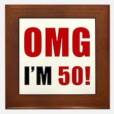 OMG 50th Birthday Framed Tile