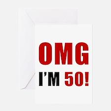 OMG 50th Birthday Greeting Card