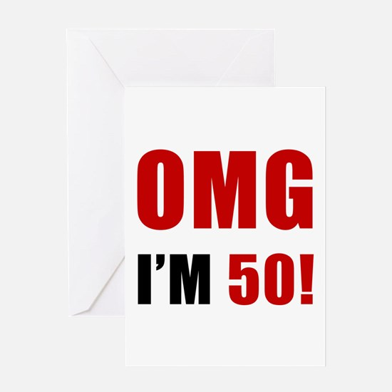 OMG 50th Birthday Greeting Card
