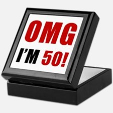 OMG 50th Birthday Keepsake Box
