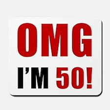 OMG 50th Birthday Mousepad