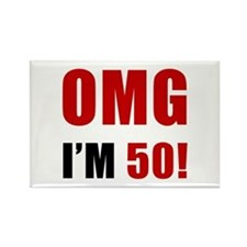 OMG 50th Birthday Rectangle Magnet