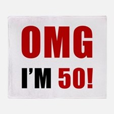 OMG 50th Birthday Throw Blanket