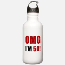 OMG 50th Birthday Water Bottle