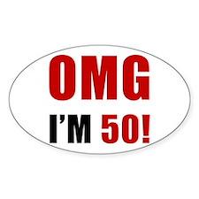 OMG 50th Birthday Decal