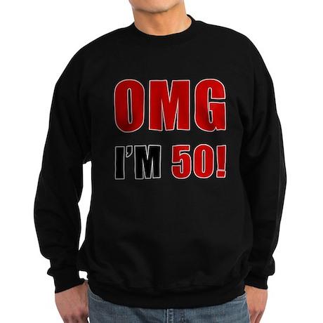 OMG 50th Birthday Sweatshirt (dark)