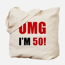 OMG 50th Birthday Tote Bag