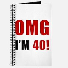 OMG 40th Birthday Journal