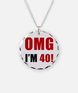 OMG 40th Birthday Necklace