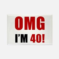 OMG 40th Birthday Rectangle Magnet