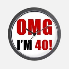 OMG 40th Birthday Wall Clock