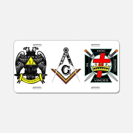 Cute Masonic Aluminum License Plate