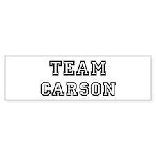 Team Carson Bumper Bumper Sticker