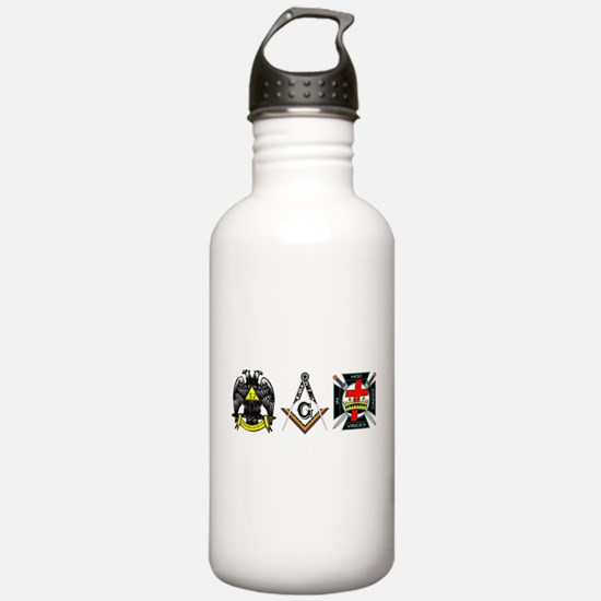 Multiple Masonic Bodies Water Bottle