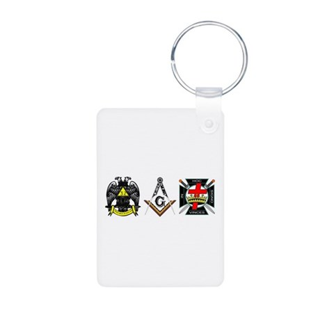 Multiple Masonic Bodies Aluminum Photo Keychain