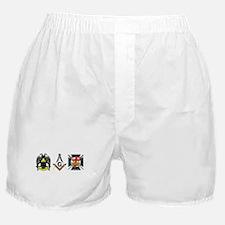 Multiple Masonic Bodies Boxer Shorts