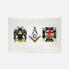 Multiple Masonic Bodies Rectangle Magnet