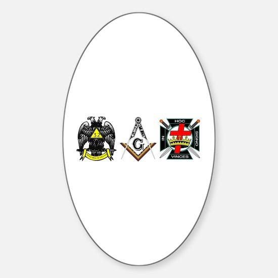 Multiple Masonic Bodies Sticker (Oval)