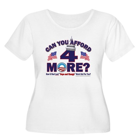 Can You afford 4 More Years Women's Plus Size Scoo