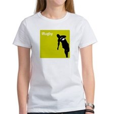 iRugby Green Rugby Player T-shirt Tee