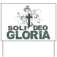Cross N Swirls~ Soli Deo Gloria Yard Sign