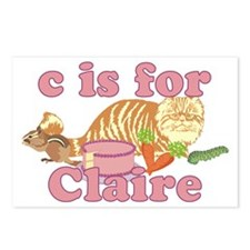 C is for Claire Postcards (Package of 8)