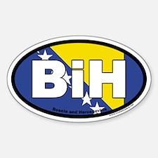 Bosnia and Herzegovina BiH Euro Oval Sticker with