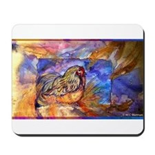 Chicken, colorful, art, Mousepad