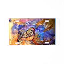 Chicken, colorful, art, Aluminum License Plate