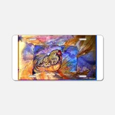 Chicken, colorful, art, Aluminum License Plate