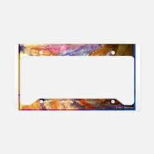 Chicken, colorful, art, License Plate Holder