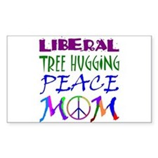 LIBERAL PEACE MOM Rectangle Decal