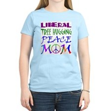LIBERAL PEACE MOM Women's Pink T-Shirt