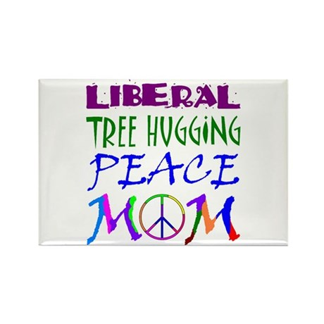 LIBERAL PEACE MOM Rectangle Magnet
