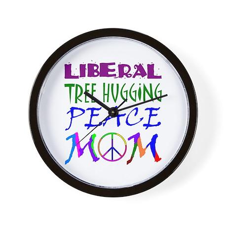 LIBERAL PEACE MOM Wall Clock